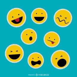 Conjunto de parches emoji