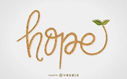 Ilustración del concepto de esperanza