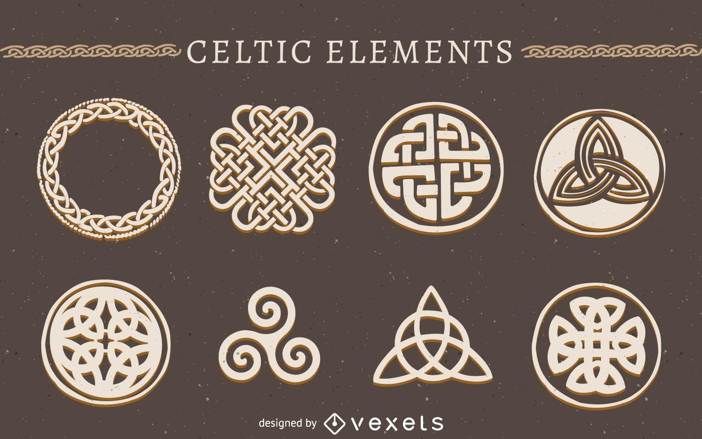 Conjunto de elementos celtas