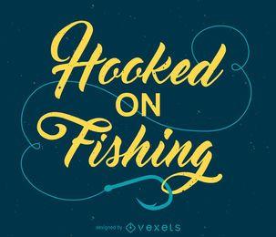 Enganchado en el diseño de la pesca