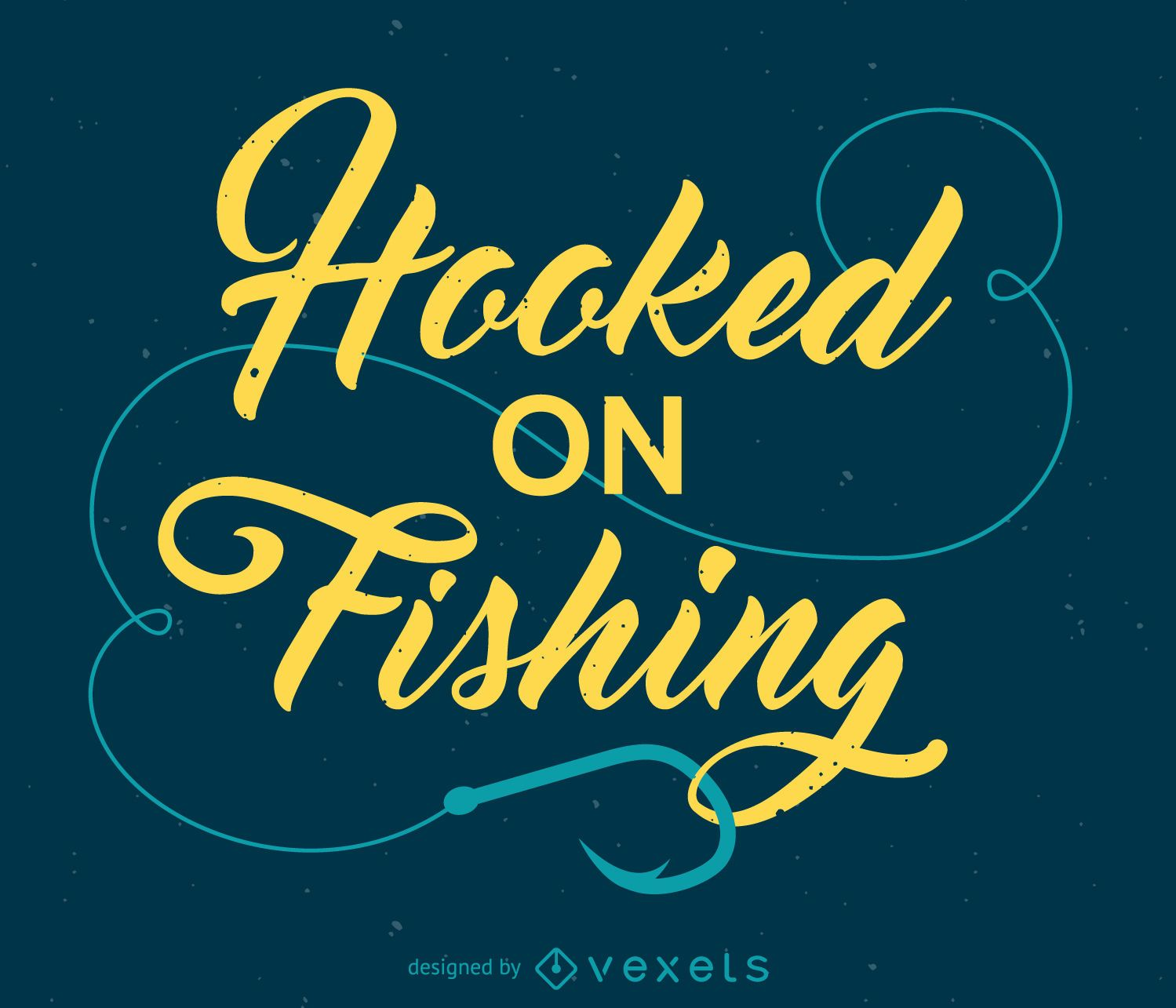Hooked on fishing design vector download for Hooked on fishing