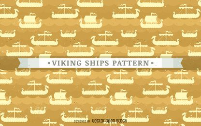 Viking ships pattern background
