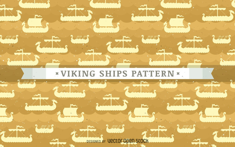 Viking ships pattern background