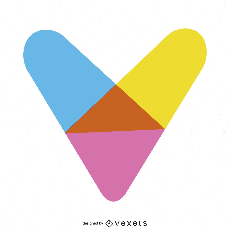 Plantilla de logotipo de corazón brillante