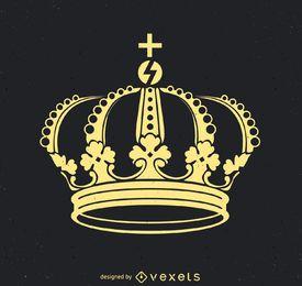 Ilustração de coroa real plana