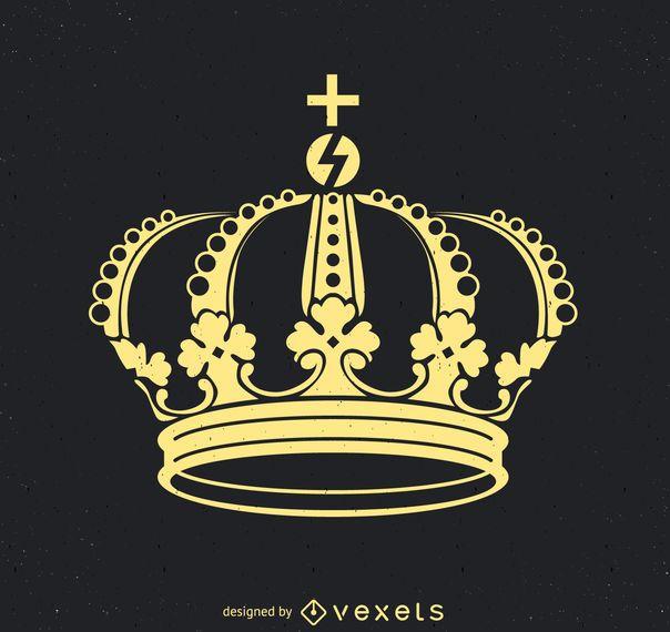 Flat Royal crown illustration