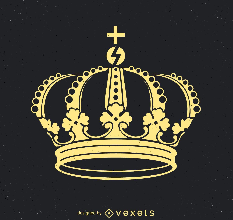 Ilustración de corona real plana