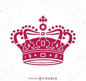 Ilustração de coroa rosa