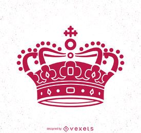Pink crown illustration
