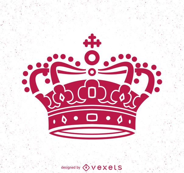 Corona rosa ilustración