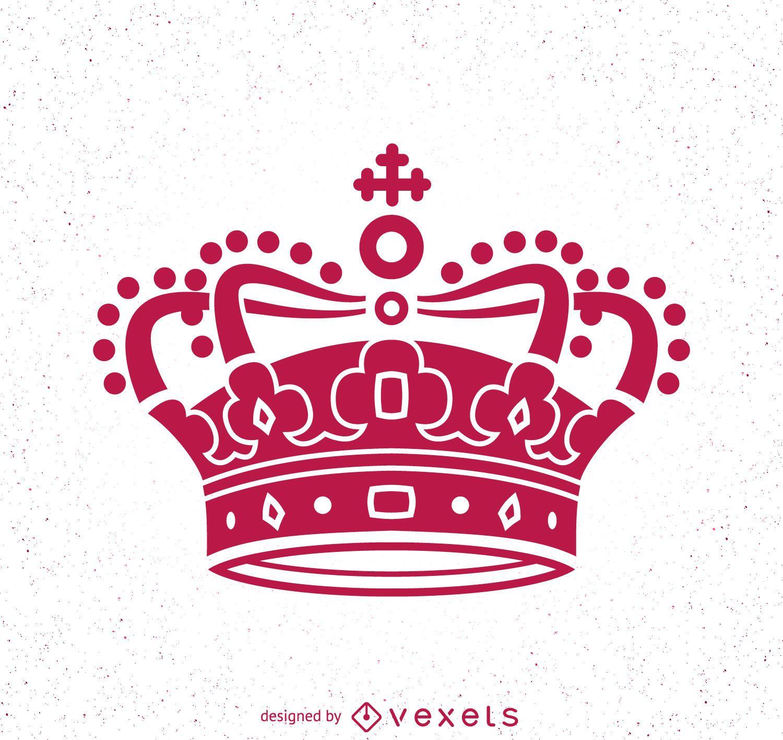 Pink crown illustration