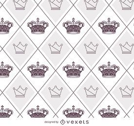 Illustrated crowns pattern