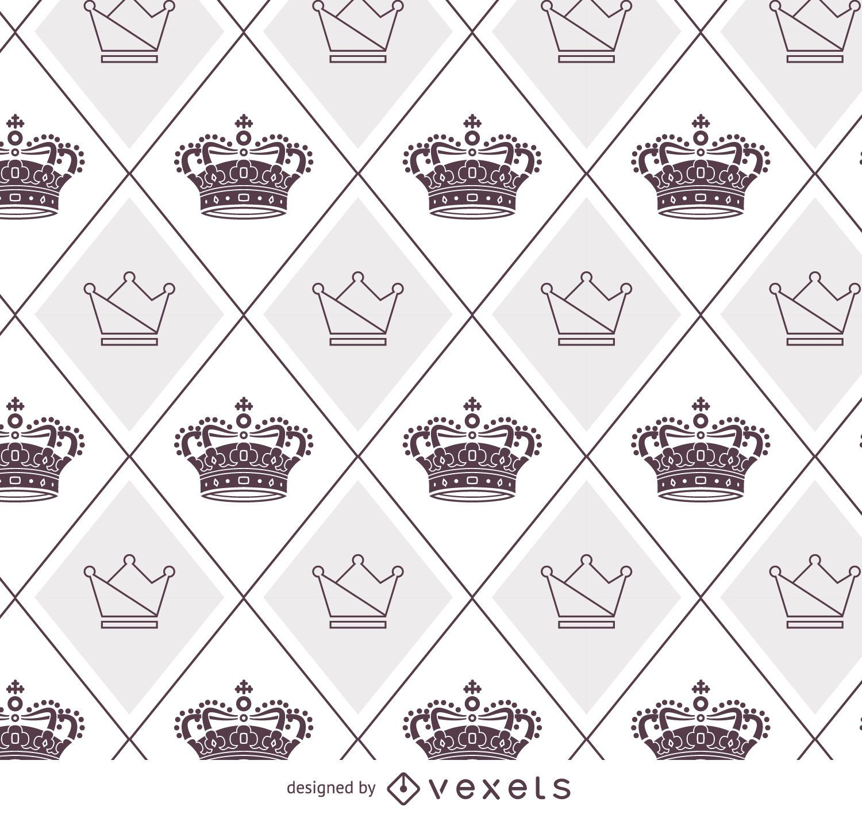 Patrón de coronas ilustrado