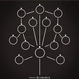 Minimalist family tree mockup template