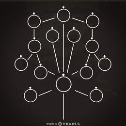Modelo de maquete de árvore genealógica minimalista