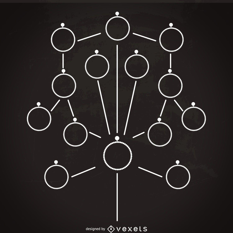 Minimalist family tree template