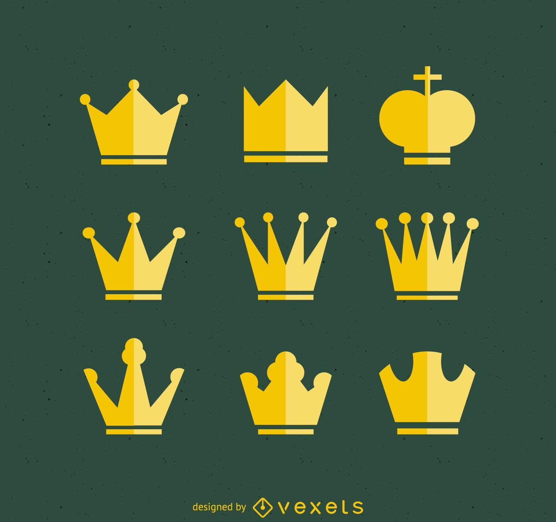 Colección de ilustraciones de corona