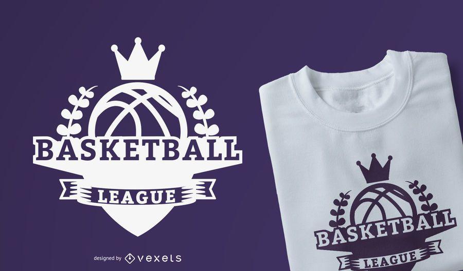 Diseño de camiseta de la liga de baloncesto
