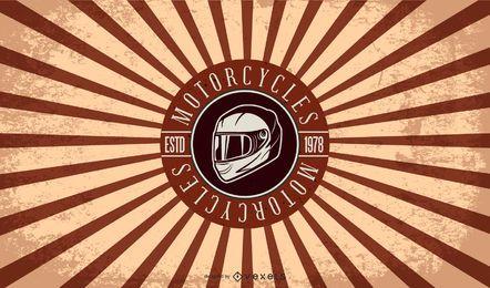 estilo vintage camiseta diseño impresión motocicleta club