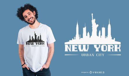 Projeto do t-shirt da rotulação de New York