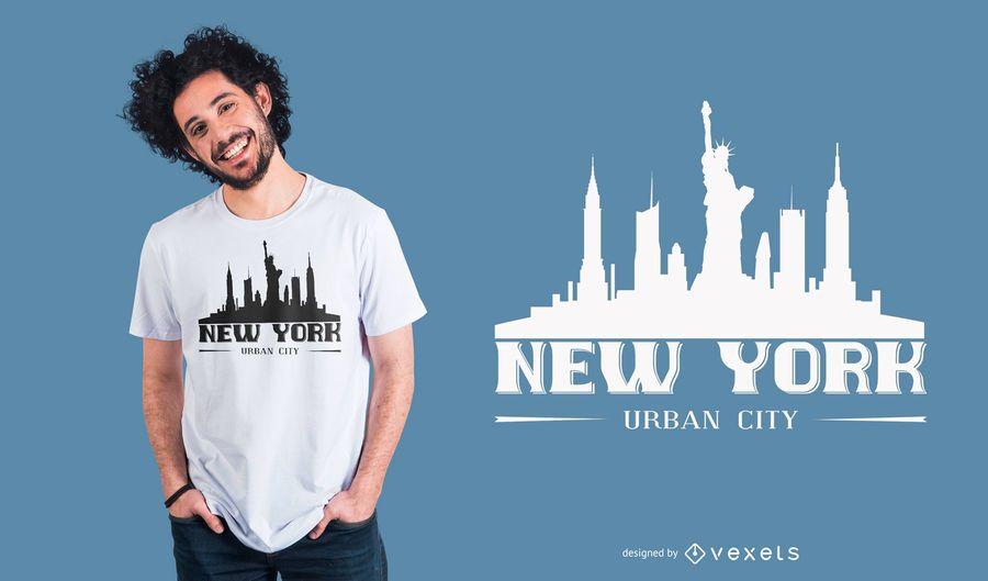 Diseño de camiseta de letras de Nueva York