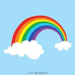 Bright rainbow drawing