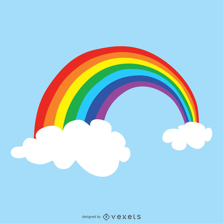 Dibujo de arco iris brillante