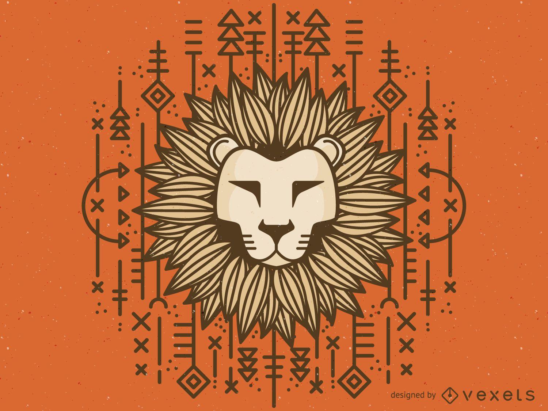 Dibujo de leon tribal
