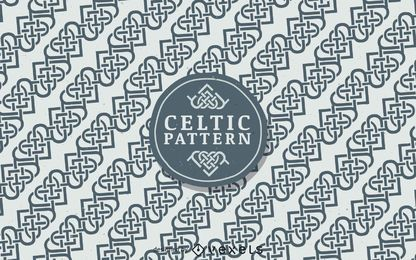 Nordic Celtic pattern background