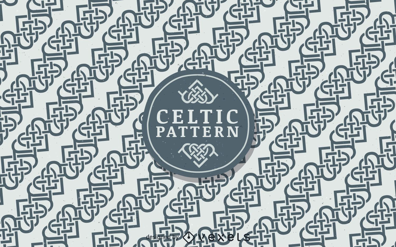 Nordic Celtic pattern background