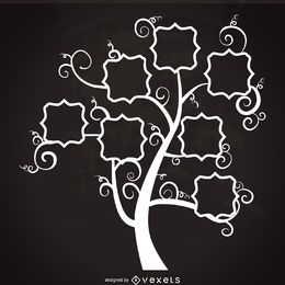 Family tree with swirls template