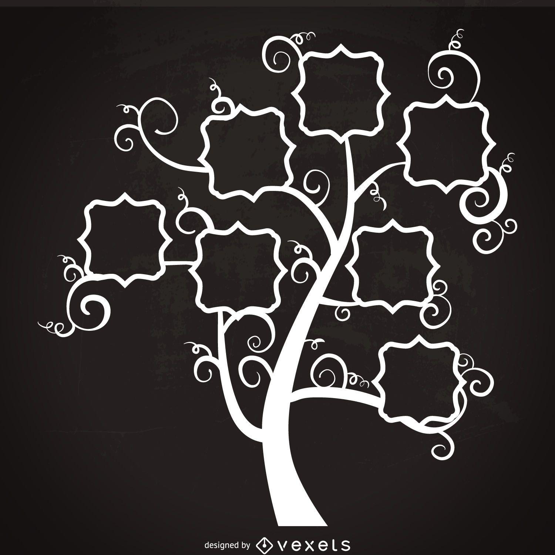 Árbol genealógico con la plantilla remolinos - Descargar vector