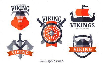 Conjunto de placa de etiqueta vikingos