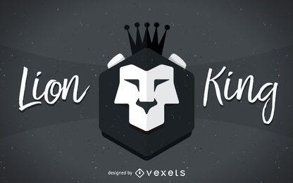 Rey león muestra ilustración