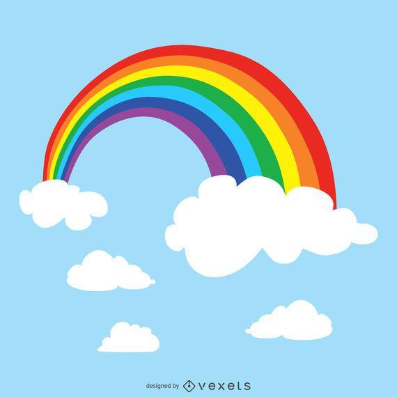Regenbogen in der Himmelabbildung