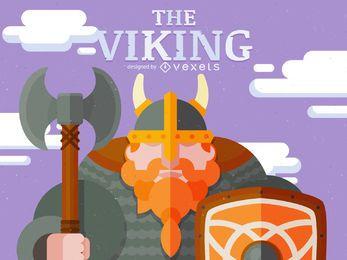 Ilustración de personaje vikingo