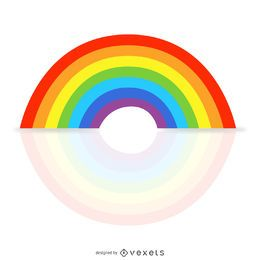 Simple rainbow illustration with reflection