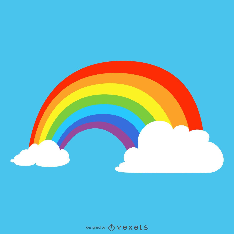 Ilustración de arco iris brillante