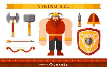Personagem Viking com itens