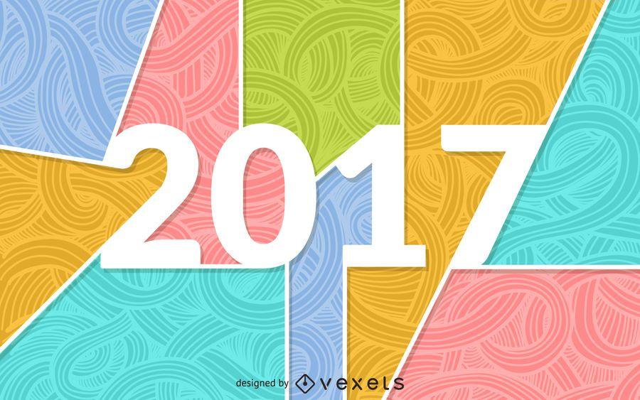 2017 Banner mit Farben