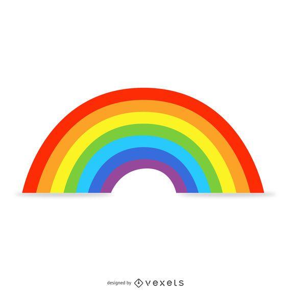 Ilustración de arco iris aislado