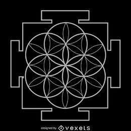 Semilla de vida yantra geometría sagrada.
