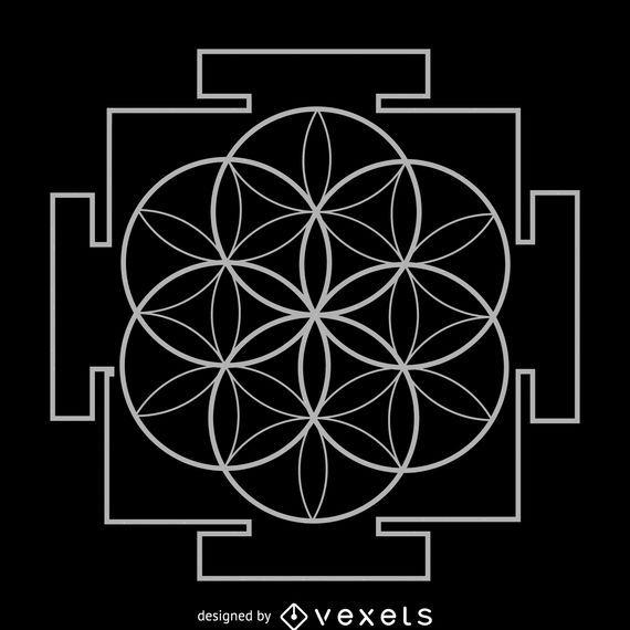 Seed of life yantra sacred geometry