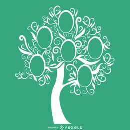 modelo de árvore de família verde