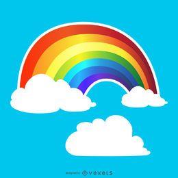 Desenho de traçado de arco-íris gradiente