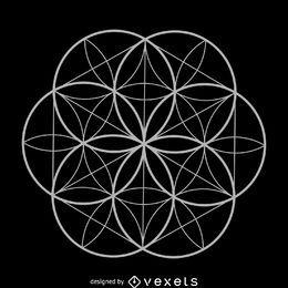 Flor de la vida geometría sagrada.