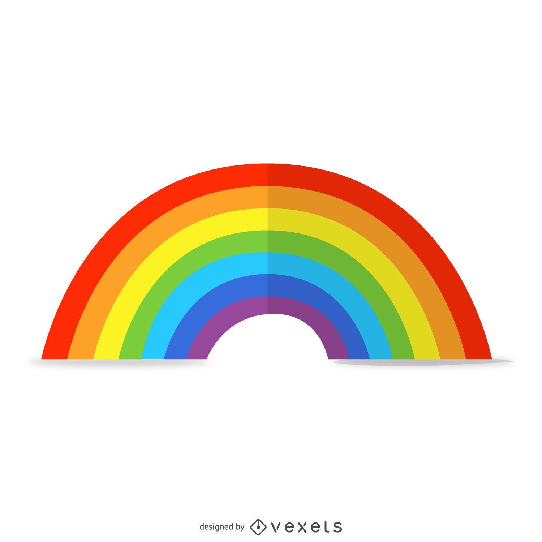 Ilustración de arco iris 3D