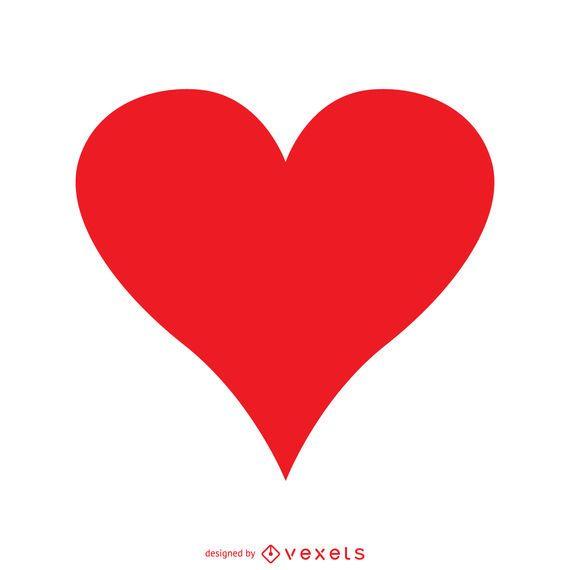 Corazón rojo aislado