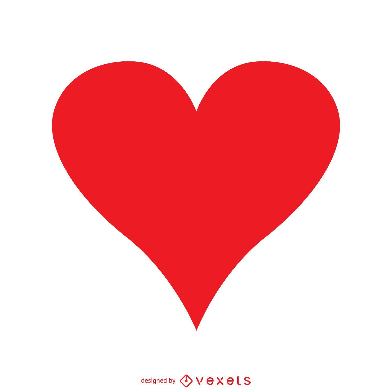 Coração vermelho isolado