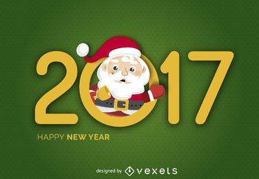 2017 Banner mit Santa Claus